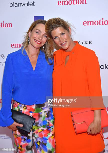 Aglaia Szyszkowitz and sister Gwendolin SzyszkowitzSchwingel attend Emotion Award at the Laeiszhalle on June 9 2015 in Hamburg Germany
