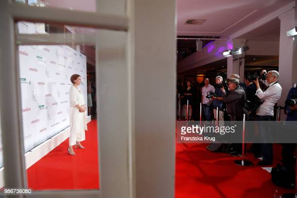 Aglaia Szyszkowitz attends the Emotion Award at Curiohaus on June 28 2018 in Hamburg Germany