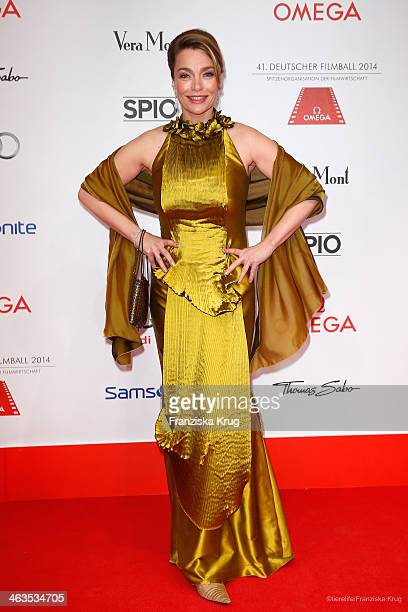Aglaia Szyszkowitz attends the German Film Ball 2014 on January 18 2014 in Munich Germany