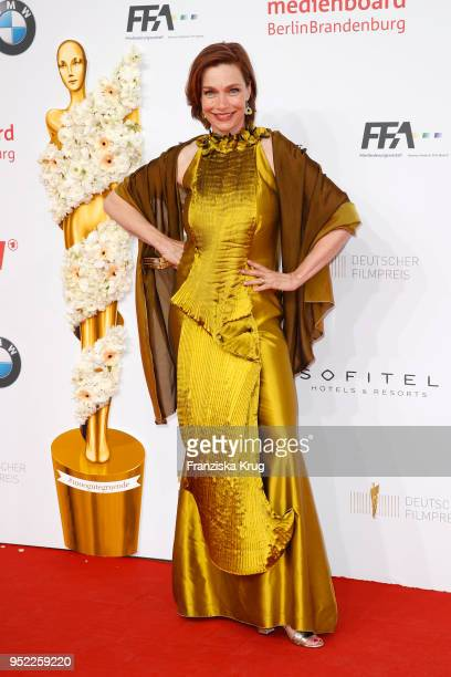 Aglaia Szyszkowitz attends the Lola German Film Award red carpet at Messe Berlin on April 27 2018 in Berlin Germany