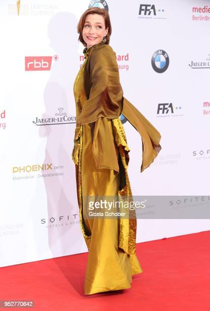 Aglaia Szyszkowitz during the Lola German Film Award red carpet at Messe Berlin on April 27 2018 in Berlin Germany