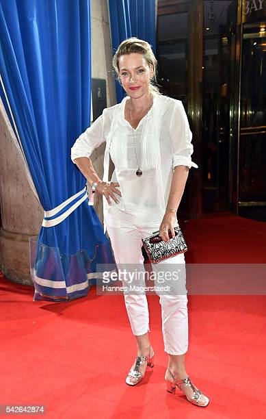 Aglaia Szyszkowitz during the opening night of the Munich Film Festival 2016 at Hotel Bayerischer Hof on June 23 2016 in Munich Germany