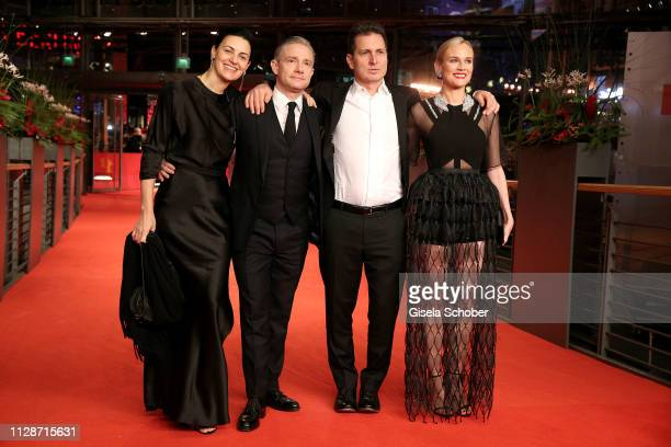 """Aglika Dotcheva, Martin Freeman, Yuval Adler and Diane Kruger arrive for the """"The Operative"""" premiere during the 69th Berlinale International Film..."""