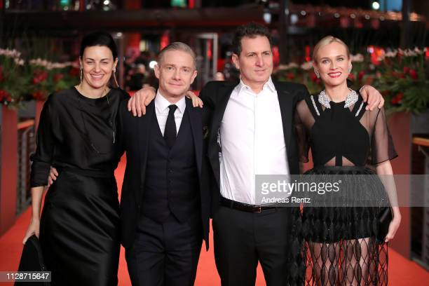 Aglika Dotcheva Martin Freeman Yuval Adler and Diane Kruger arrive for the The Operative premiere during the 69th Berlinale International Film...