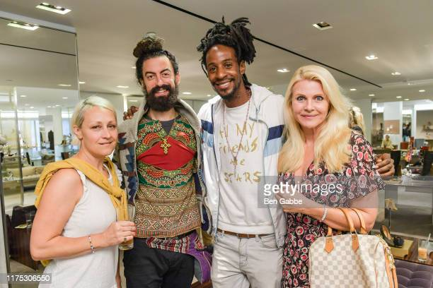 Agna Brayshaw Nicholas Sosin Americk Lewis and Nina Junot attend a Brunch In Support Of The World Childhood Foundation USA hosted by Barneys New York...