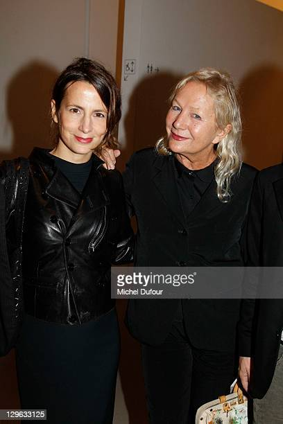 Agnes B and her daughter attend the Museum Of Modern Art Friends Dinner at Musee d'Art Moderne on October 18, 2011 in Paris, France.