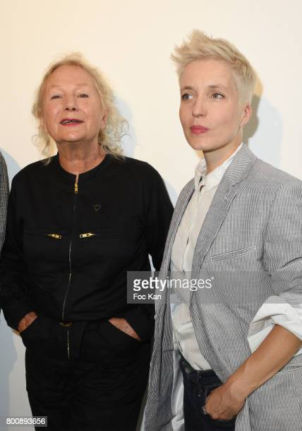 Agnes B and Singer Jeanne Added attend Agnes B Menswear Spring/Summer 2018 show as part of Paris Fashion Week ton June 25 2017 in Paris France