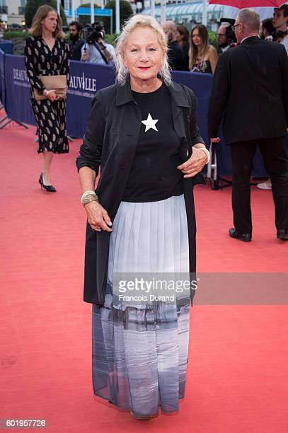 Agnes B arrives to the 'War Dogs' premiere and Award Ceremony during the 42nd Deauville American Film Festival on September 10 2016 in Deauville...