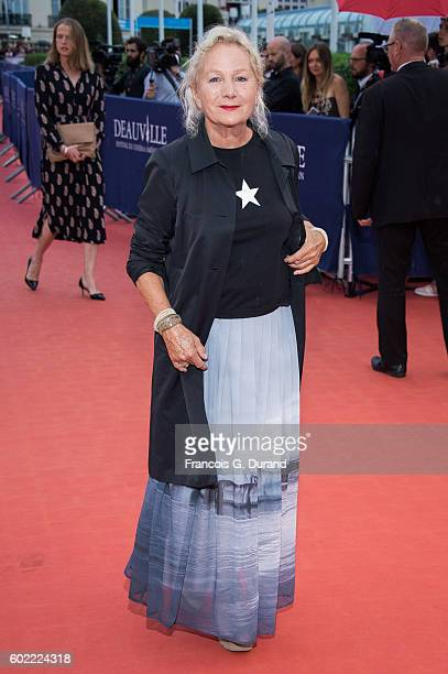 Agnes B arrives to the War Dogs premiere and Award Ceremony during the 42nd Deauville American Film Festival on September 10 2016 in Deauville France