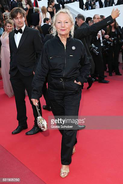Agnes B attends the Julieta premiere during the 69th annual Cannes Film Festival at the Palais des Festivals on May 17 2016 in Cannes France