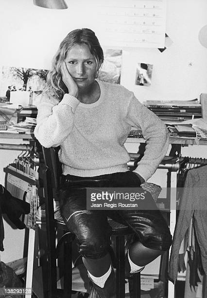 Agnes B French fashion designer on October 6 1977