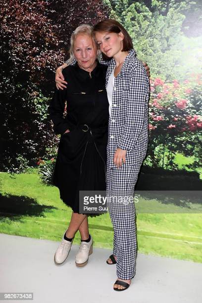 Agnes B nand Diane Rouxel attend the Agnes B Menswear Spring/Summer 2019 show as part of Paris Fashion Week on June 24 2018 in Paris France