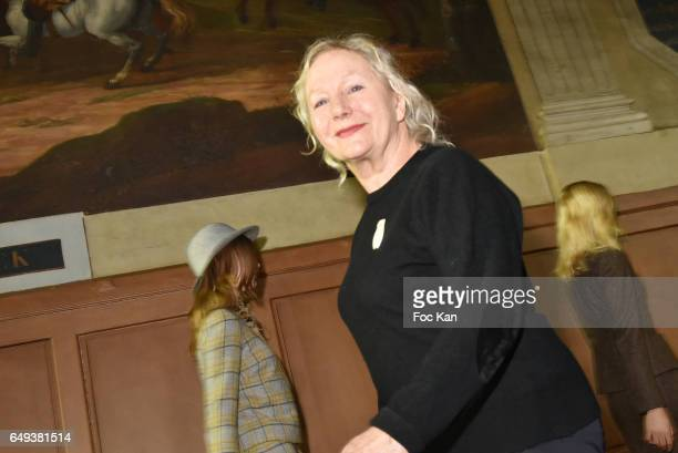 Agnes B walks the runway during the Agnes B Paris show as part of the Paris Fashion Week Womenswear Fall/Winter 2017/2018 on March 7 2017 in Paris...
