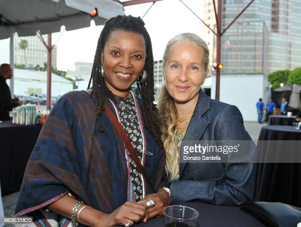 Agnes Baddoo and Danielle King attend MOCA's Leadership Circle and Members' Opening of 'Carl Andre Sculpture as Place 19582010' and 'Arthur Jafa Love...