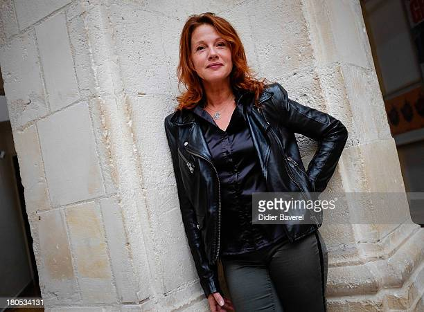 Agnes Blanchot poses during the photocall of 'Lanester' at 15th Festival of TV Fiction on September 14 2013 in La Rochelle France