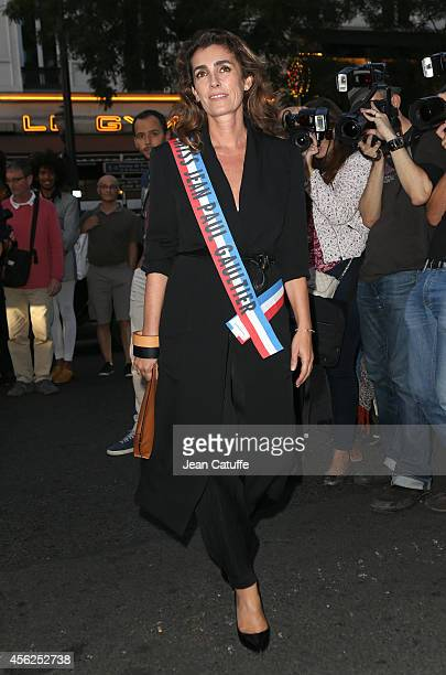 Agnes Boulard better known as Mademoiselle Agnes attends JeanPaul Gaultier fashion show at Le Grand Rex as part of the Paris Fashion Week Womenswear...