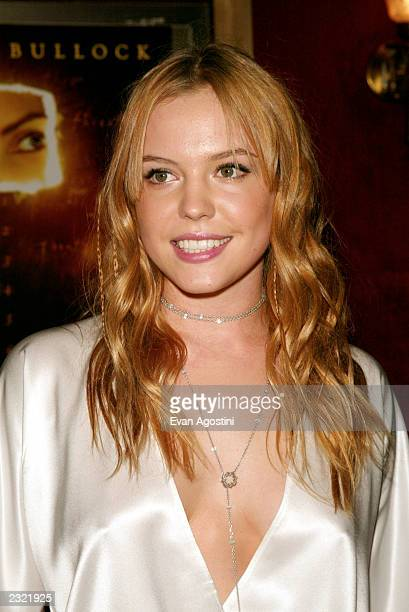 Agnes Bruckner arriving at the Murder By Numbers film premiere at the Ziegfeld Theatre in New York City April 16 2002 Photo Evan Agostini/ImageDirect