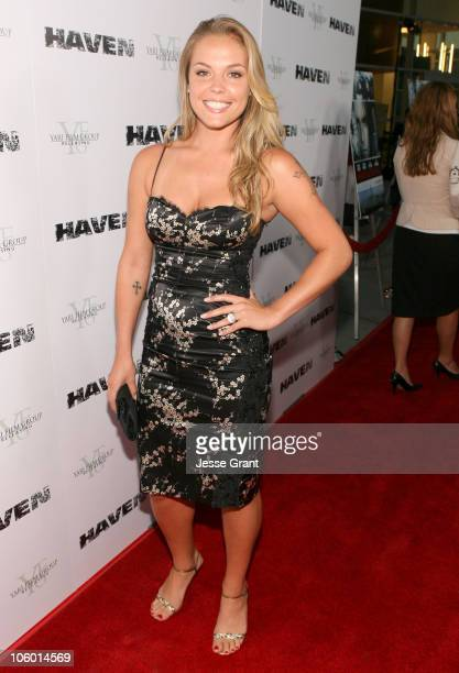 Agnes Bruckner during 'Haven' Los Angeles Premiere Red Carpet at ArcLight in Hollywood California United States