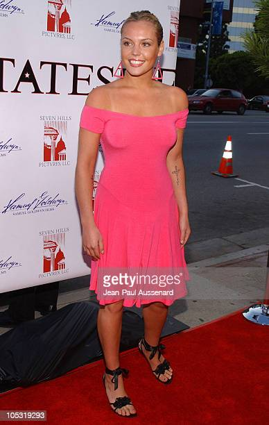 Agnes Bruckner during 'Stateside' Los Angeles Premiere Arrivals at The Crest Theatre in Westwood California United States