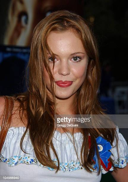 Agnes Bruckner during 'Swimfan' Premiere at Sunset Canyon Recreation Center in Westwood California United States