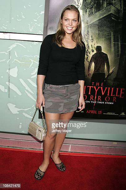 Agnes Bruckner during 'The Amityville Horror' World Premiere Arrivals at Arclight Cinerama Dome in Hollywood California United States