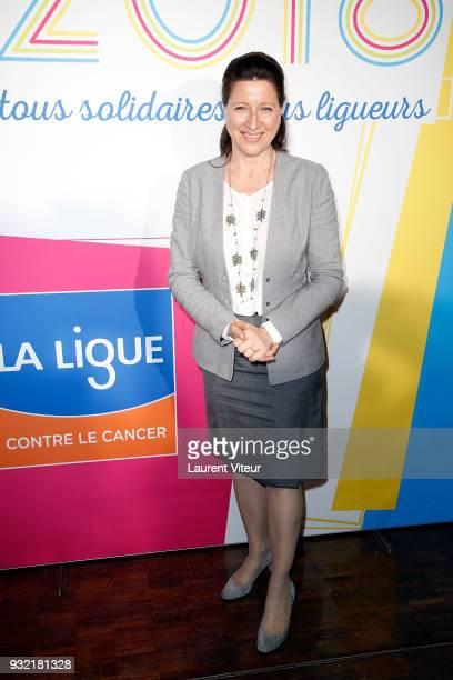 Agnes Buzyn attends 100 ans de la Ligue contre le Cancer Celebration at La Cite des Sciences on March 14 2018 in Paris France