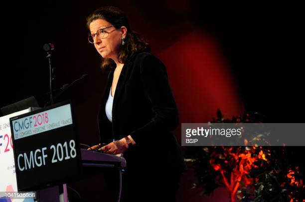 Agnes Buzyn French Minister of Solidarity and Health at the General Medecine Congress in France CMGF 2018