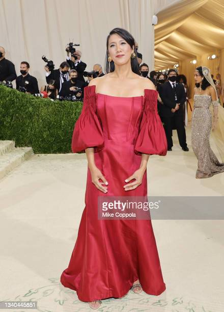 Agnes Chu attends The 2021 Met Gala Celebrating In America: A Lexicon Of Fashion at Metropolitan Museum of Art on September 13, 2021 in New York City.