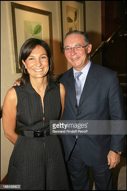 Agnes Cromback and Count Philippe De Nicolay cocktail at 'Tiffany Co' in Paris to the benefit of the association 'Care' which celebrates its 60th...