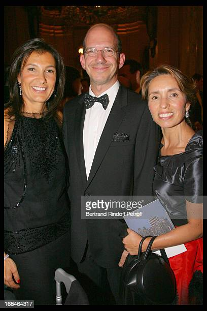 Agnes Cromback and Gregory and Regina Annenberg Weingarten at Gala Of The Association For The Influence Of The National Paris Opera At Palais Garnier
