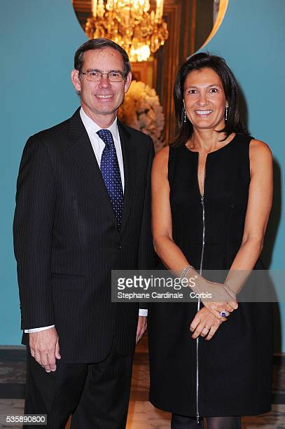 'Agnes Cromback and Michael J Kowalski attend the 10 Th Tiffany France anniversary held at the US Embassy in Paris '