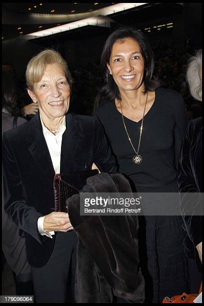 Agnes Cromback and mother Marie Emmanuelle Huyghues Despointes at The Reve D'Enfants Matinee Performance Of Swan Lake At The Opera Bastille Featuring...