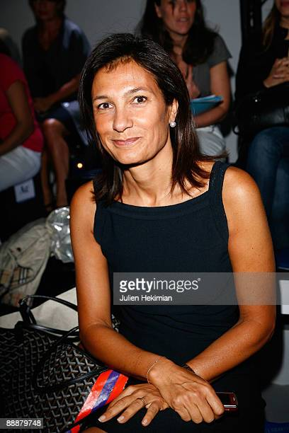 Agnes Cromback attends the Georges Chakra Paris fashion show at Cite de l'Architecture et du Patrimoine on July 7 2009 in Paris France