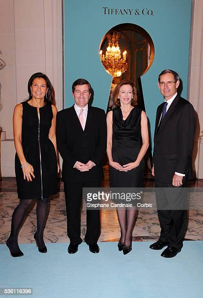 'Agnes Cromback Michael J Kowalski US Ambassador in Paris Charles H Rivkin with his Wife attend the 10 Th Tiffany France anniversary held at the US...