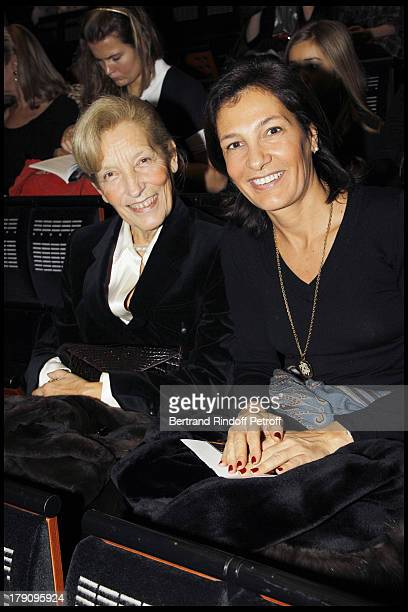 Agnes Cromback with mother Marie Emmanuelle Huyghues Despointes at The Reve D'Enfants Matinee Performance Of Swan Lake At The Opera Bastille...