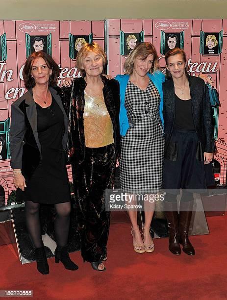 Agnes de Sacy Marisa Bruni Tedeschi Valeria Bruni Tedeschi and Celine Sallette attend the 'Un Chateau En Italie' Paris Premiere at cinema UGC Cine...