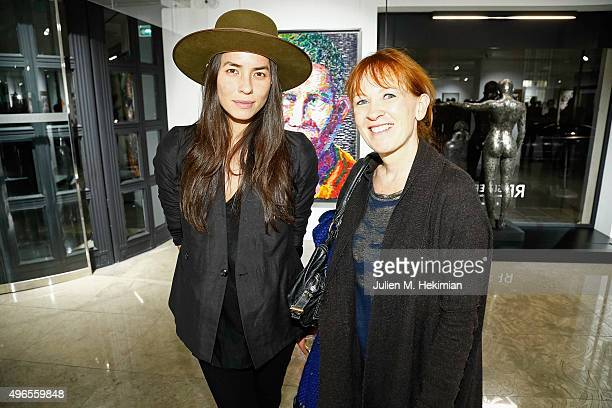 Agnes Gregoire and Tasya Van Ree attend the launch of PhotoManagement at galerie Opera on November 10 2015 in Paris France