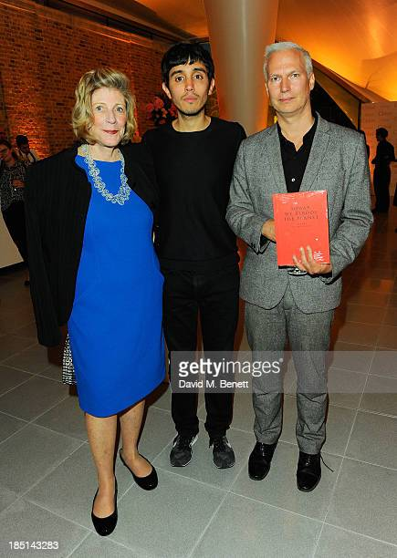 Agnes Gund Adrian Villar Rojas and Klaus Biesenbach attend a cocktail party to Celebrate the Launch of the Book 'Chloe Attitudes' hosted by Sarah...