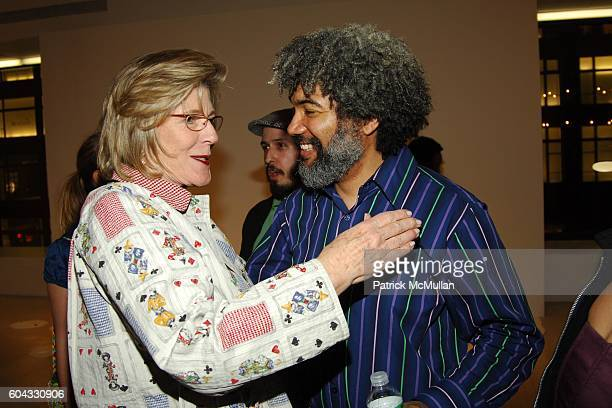 "Agnes Gund and Fred Wilson attend Opening of FRED WILSON ""My Echo, My Shadow and Me"" at PaceWildenstein on March 10, 2006 in New York City."