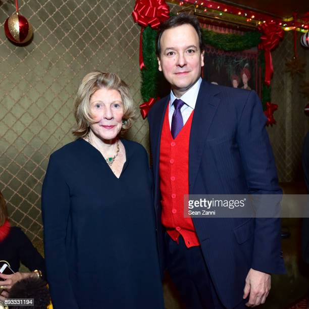 Agnes Gund and George Farias attend A Christmas Cheer Holiday Party 2017 Hosted by George Farias and Anne and Jay McInerney at The Doubles Club on...