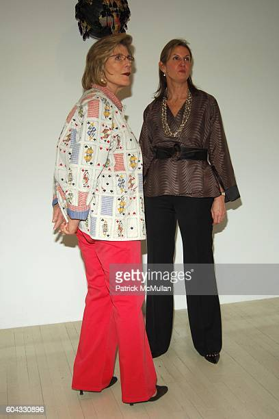"Agnes Gund and Susan Dunne attend Opening of FRED WILSON ""My Echo, My Shadow and Me"" at PaceWildenstein on March 10, 2006 in New York City."