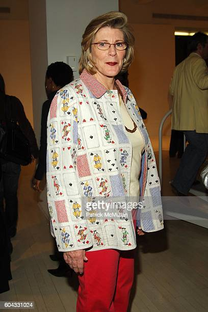 Agnes Gund attends Opening of FRED WILSON My Echo My Shadow and Me at PaceWildenstein on March 10 2006 in New York City