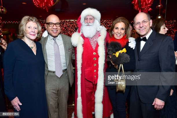 Agnes Gund Darren Walker Santa Claus Sydie Lansing Cupcake and Craig Starr attend A Christmas Cheer Holiday Party 2017 Hosted by George Farias and...