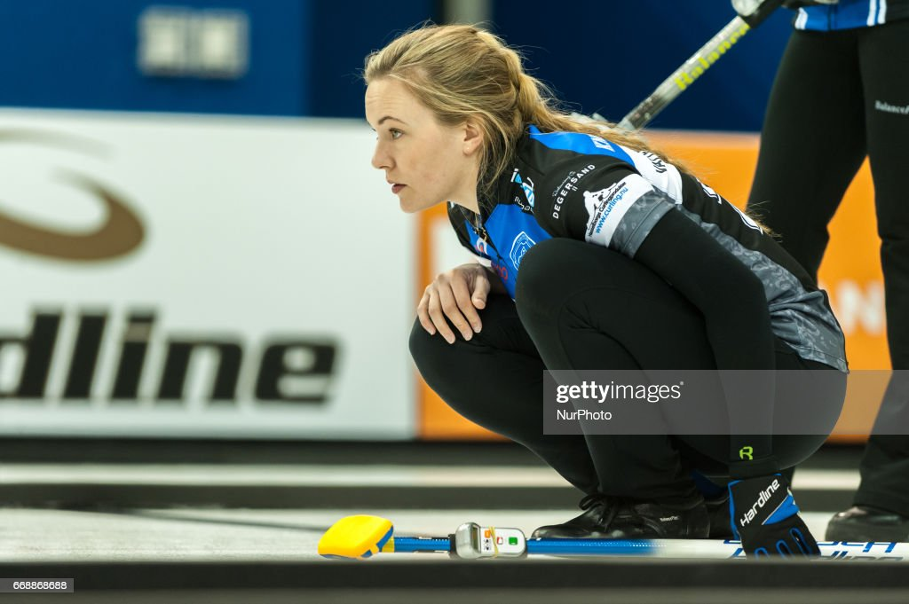 Agnes Knochenhauer on the ice during 2017 WetJet Players Championship which takes place in Ryerson's Mattamy Athletic Centre, in Toronto, Ontario, Canada on April 13, 2017.