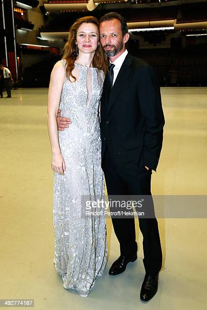 Agnes Letestu and her husband attend the AROP Charity Gala Held at Opera Bastille on May 21 2014 in Paris France