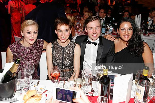 Agnes Lindstroem Christiane Paul David Kross and Minu BaratiFischer attend the German Film Ball 2015 on January 17 2015 in Munich Germany