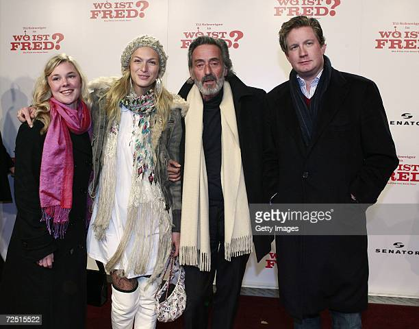 Agnes Lisa Wegner Mia Florentine Weiss German director Helmut Dietl and David Gronewald arrive for the Premiere of Wo ist Fred at the Sony Center on...