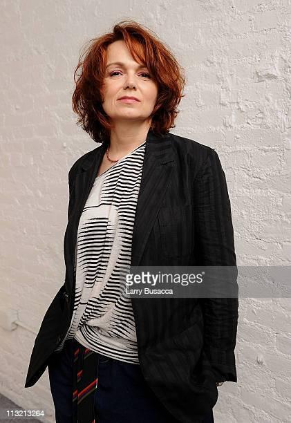 Agnes Merlet visits the Tribeca Film Festival 2011 portrait studio on April 27 2011 in New York City