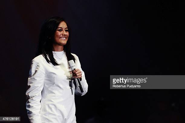 Agnes Monica performs in the 10th Year Edition of Jakarta International Java Jazz Festival 2014 day 3 at JIExpo Kemayoran on March 2 2014 in Jakarta...