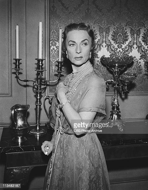 Agnes Moorehead in 'The Dungeon' on PLAYHOUSE 90 Image dated March 7 1958